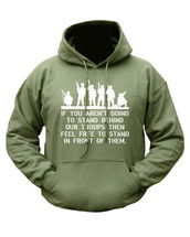 Kombat Behind Troops Hoodie in Green