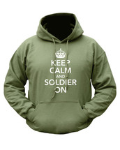 Kombat Keep Calm Hoodie in Green