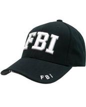 Kombat Baseball Cap FBI in Black