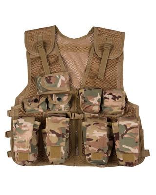 Kombat Kids Tactical Assault Vest in BTP camo