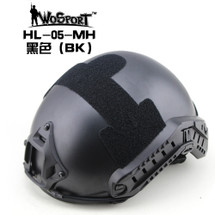 Wo Sport FAST Helmet-MH Type (Without Hole) Black