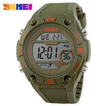 ESports LED Display Watch in Rubber Green Strap - DG1093