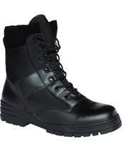 Kombat Military Patrol Boots Half Leather Half Cordura in Black