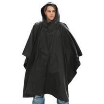 Kombat US Style Poncho In Black