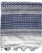 Shemagh Keffiyeh Arab Scarf in Blue & White
