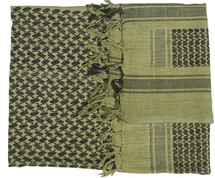 Shemagh Keffiyeh Arab Scarf in Green & Black