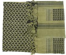 Shemagh Keffiyeh Arab Scarf in Green & Black