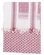 Shemagh Keffiyeh Arab Scarf in Red & White