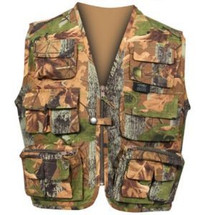 JACK PYKE KIDS FIELD ACTION VEST E OAK WAISTCOAT IN WOODLAND CAMO