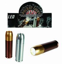 Brass Bullet Mini Metal Pocket Light / Torch with 12 LEDS