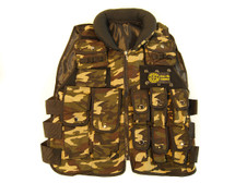 KIDS WELLFIRE COMBAT TACTICAL VEST WITH BUTTON POCKETS IN DPM CAMO