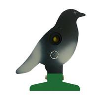 Free standing knockdown pigeon metal target