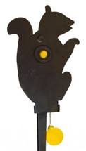 knockdown squirrel metal target with ground spike