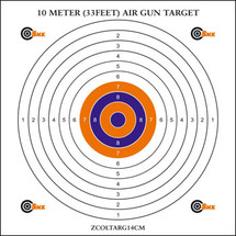 SMK Air Riffle Card Target - 10m (33ft) 100pc x 14cm