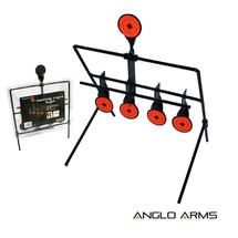 swinging Knock Down Target for air rifles 4+1