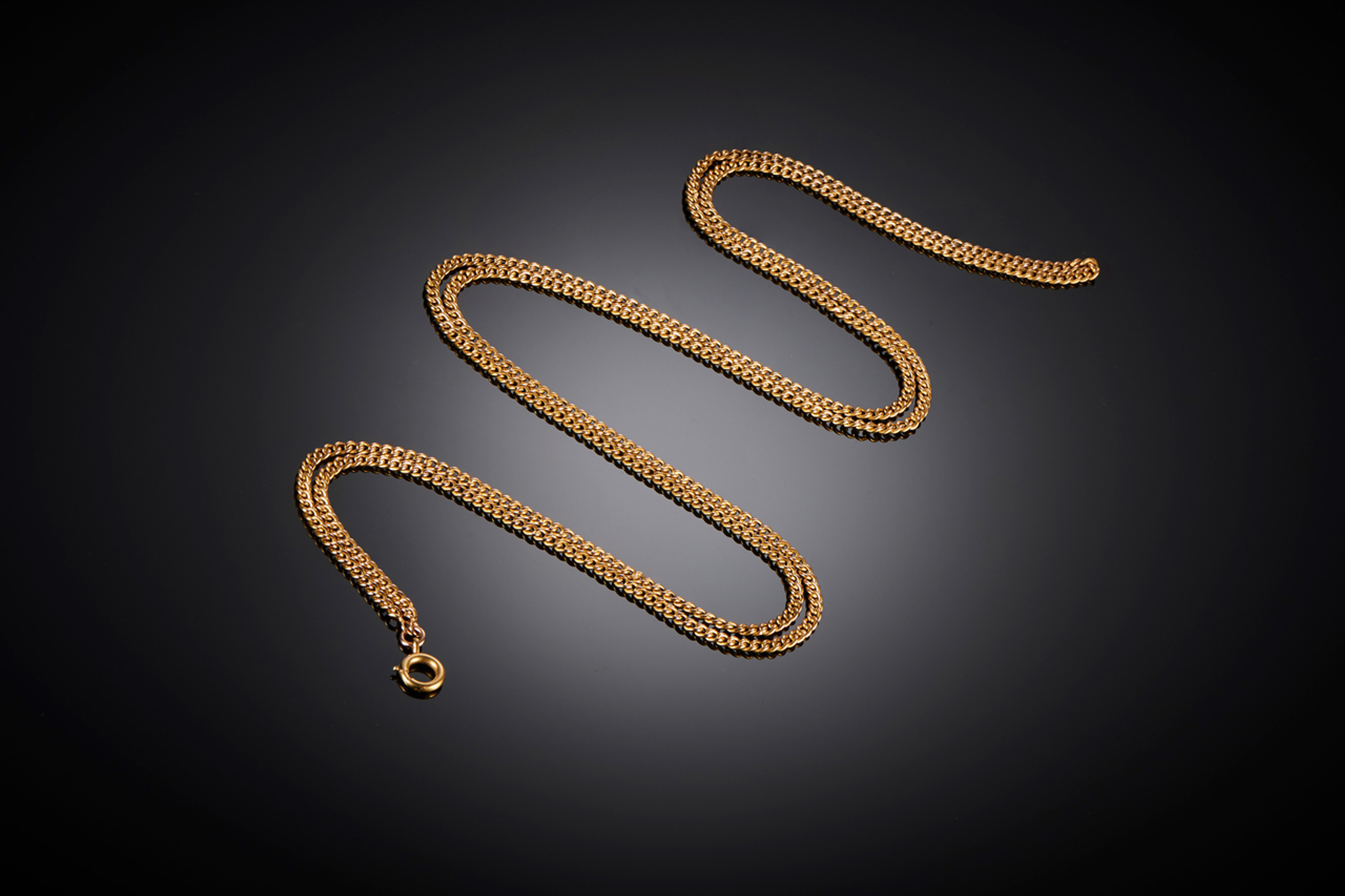 Victorian Gold Guard Chain - Front Image