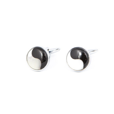 Ying Yang Shell Cufflinks - main view - University graduation gift