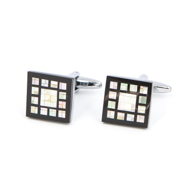 Squares Within Squares Shell Cufflinks - main view - University graduation gift