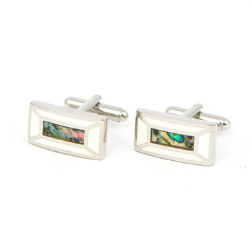Centrepiece Mother of Peal Cufflinks - main view - University graduation gift
