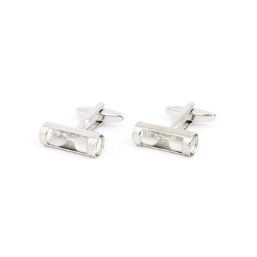 White Sand Hourglass Cufflinks - main view - University graduation gift