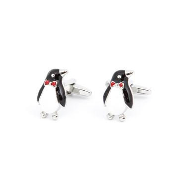 Penguin Cufflinks - main view - University graduation gift