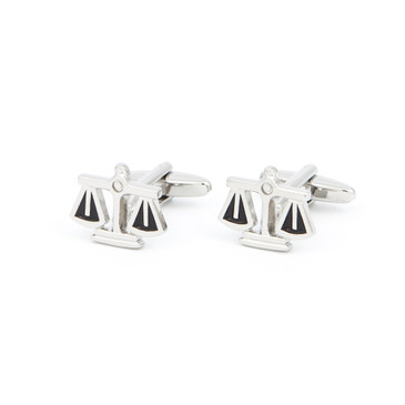 Scales of Justice Cufflinks - main view - University graduation gift