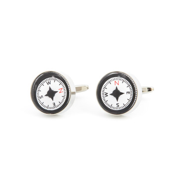 Compass Cufflinks - main view - University graduation gift