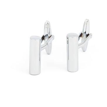 Minimalist Cylinder Cufflinks - main view - University graduation gift