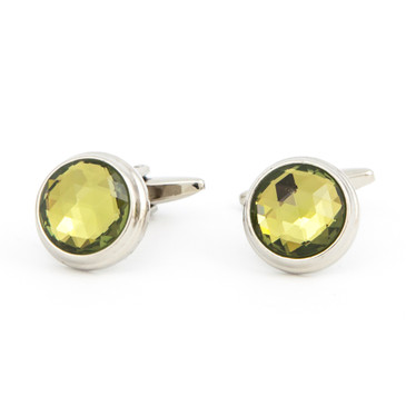 Cut Gold Glass Cufflinks - main view - University graduation gift