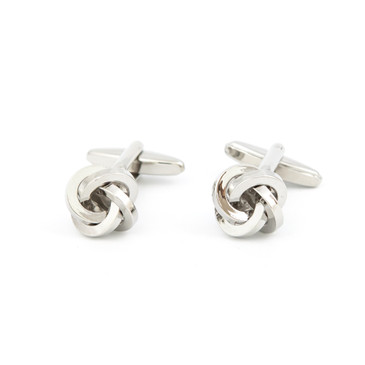 Silver Knot Cufflinks - main view - University graduation gift