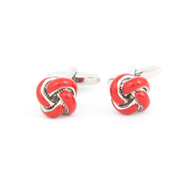 Red Enamel Knot Cufflinks - main view - University graduation gift