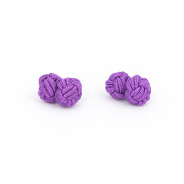 Purple Fabric Knot Cufflinks - main view - University graduation gift