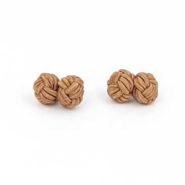 Copper Fabric Knot Cufflinks - main view - University graduation gift