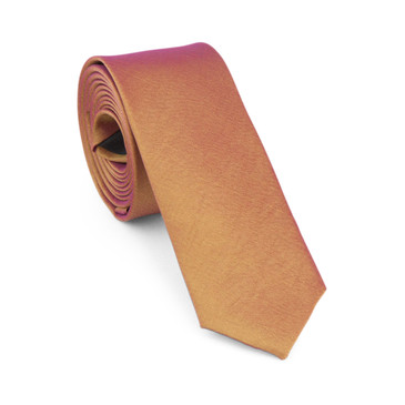 Old Gold Satin Necktie (Skinny) - main view - University graduation gift