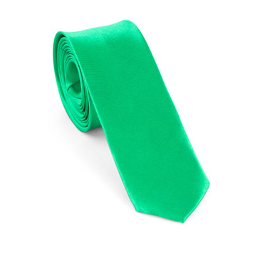 Green Satin Necktie (Skinny) - main view - University graduation gift