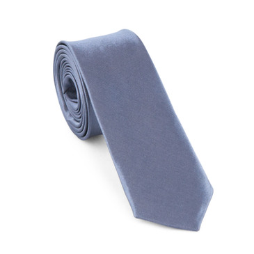 Grey Satin Necktie (Skinny) - main view - University graduation gift
