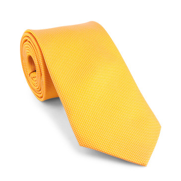 Classic Orange Necktie - main view - University graduation gift