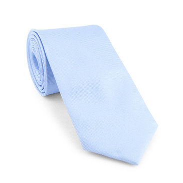 Classic Light Blue Necktie - main view - University graduation gift