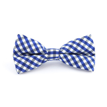 Blue Check Bowtie - main view - University graduation gift