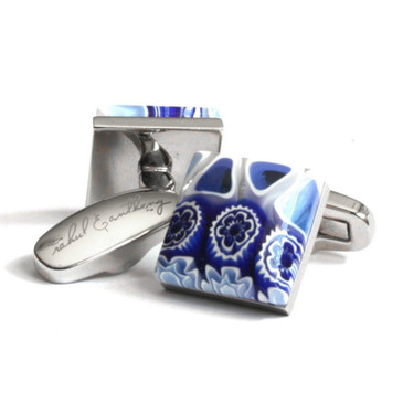 Petali Blu Cufflinks (by Rahul & Anthony) - main view - University graduation gift