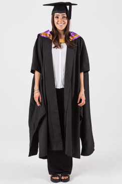 Masters Graduation Gown Set for UNSW - Medicine - Front view