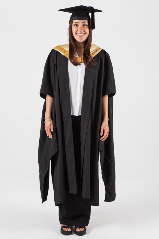 masters graduation gown set for unsw science gowntown