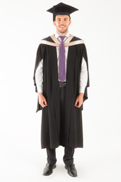 University of Tasmania Bachelor Graduation Gown Set - Fine and Visual Arts - Front view