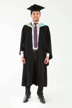 Monash University Bachelor Graduation Gown Set - Science - Front view