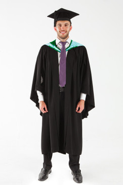 Monash University Bachelor Graduation Gown Set - Information Technology - Front view