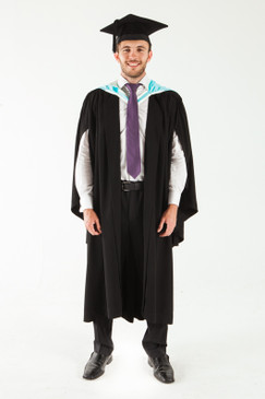 Monash University Bachelor Graduation Gown Set - Law - Front view