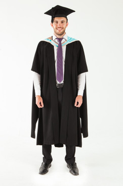 Monash University Masters Graduation Gown Set - Education - Front view