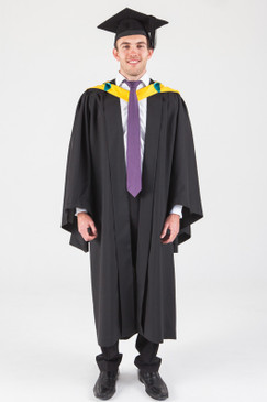 Macquarie University Bachelor Graduation Gown Set - Human Sciences - Front view