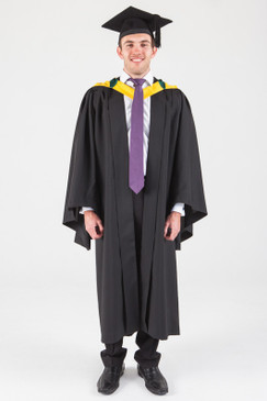 Macquarie University Bachelor Graduation Gown Set - Science and Engineering - Front view