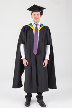 Macquarie University Masters Graduation Gown Set - Human Sciences - Front view